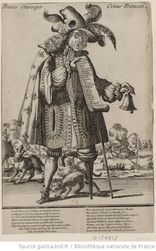 Le crieur François, Estampes, 1693 (source : Gallica. BnF).