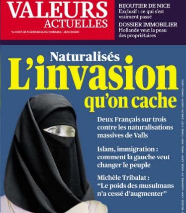 """Image 1 : Couverture de """"Valeurs Actuelles"""" du 26 septembre 2013"""